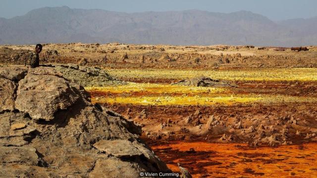 Cảnh tượng màu sắc ở vùng lõm Danakil.