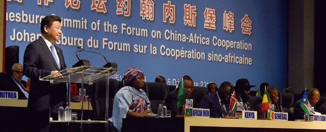 Chủ tịch Tập Cận Bình phát biểu tại Diễn đàn Hợp tác Trung Quốc - châu Phi năm 2015 (Ảnh: Xinhua)