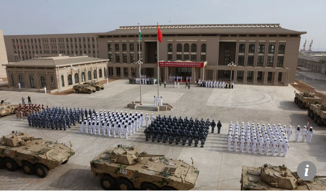 Quân đội Trung Quốc tham gia lễ khánh thành căn cứ quân sự nước ngoài đầu tiên ở Djibouti (Ảnh: AFP)