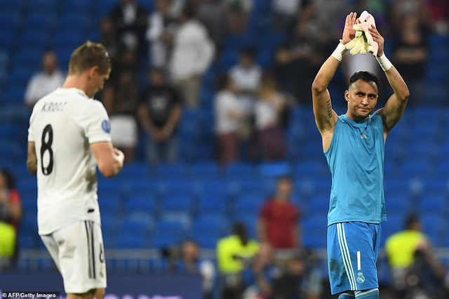 Thủ thành Navas đã chơi xuất sắc khi được bắt chính trước AS Roma