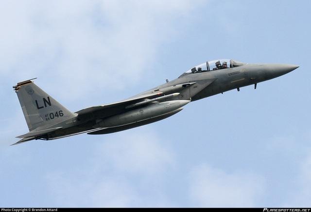 Máy bay F-15D của Mỹ có thể tham gia cuộc tập trận lần này (Ảnh: Plane Spotter)