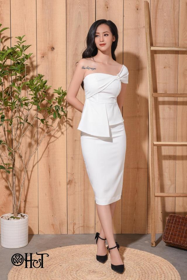 Gam màu trắng mang lại vẻ tinh khôi và yêu kiều cho những quý cô thanh lịch