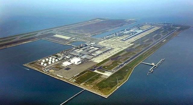 Sân bay nhân tạo Kansai, Nhật Bản. Ảnh: Pinterest