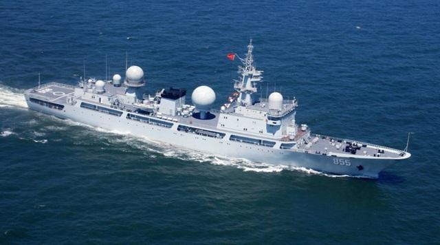 Một tàu do thám lớp Dongdiao của Trung Quốc (Ảnh minh họa: DefPost)