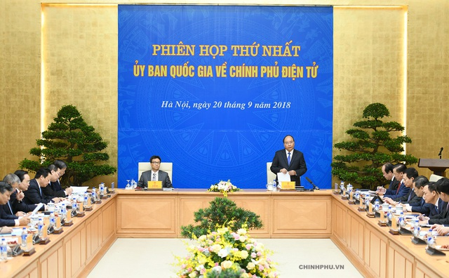 Thủ tướng chủ trì phiên họp thứ nhất của UB Quốc gia về Chính phủ điện tử