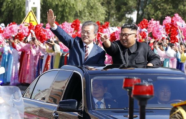 Tổng thống Moon Jae-in đã được Triều Tiên tiếp đón nồng nhiệt trong chuyến thăm Bình Nhưỡng. (Ảnh: JPC)