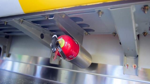 Bình cứu hỏa trên khoang tàu