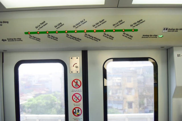 Sơ đồ tuyến đường sắt Cát Linh - Hà Đông, các đoàn tàu sẽ chạy qua 12 nhà ga trên cao từ Yên Nghĩa tới Cát Linh