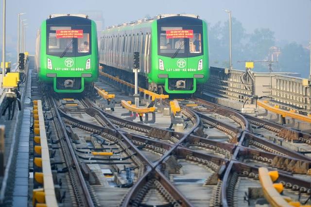 Dự án đường sắt Cát Linh - Hà Đông (Hà Nội) chính thức vận hành thử liên động toàn hệ thống.