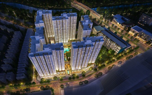 Phối cảnh khu căn hộ Flora Akari City giai đoạn 1 trên đại lộ Võ Văn Kiệt
