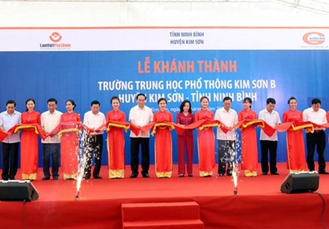 Ngày 21/8/2016, Chủ tịch nước Trần Đại Quang về thăm huyện Kim Sơn nơi ông từng sinh ra. Chủ tịch nước đã cắt băng khánh thành trường THPT Kim Sơn B – Nơi trước kia ông từng học tập.