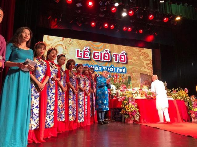 Lễ giỗ Tổ tại Nhà hát Tuổi trẻ.