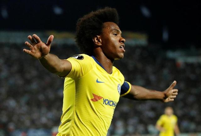 Willian ghi bàn duy nhất giúp Chelsea chiến thắng trước PAOK