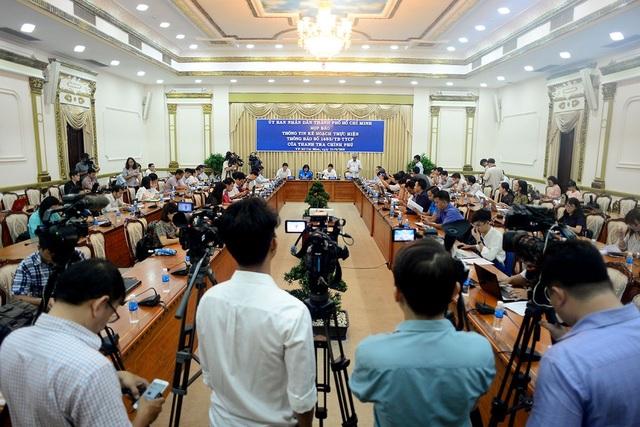UBND TPHCM họp báo thông tin về việc thực hiện thông báo kết luận của Thanh tra Chính phủ về xử lý khiếu nại ở khu đô thị mới Thủ Thiêm, quận 2.