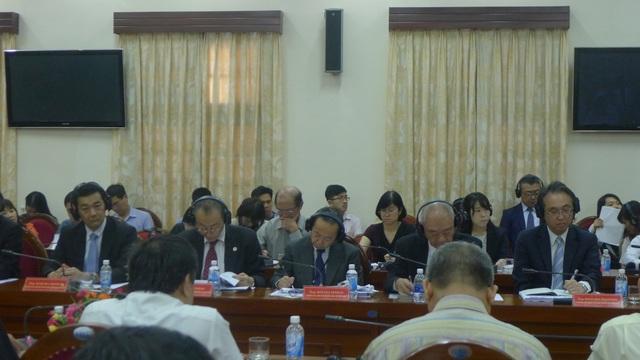 Trong số các diễn giả có nhiều diễn giả đến từ các cơ quan đại diện của Nhật Bản tại Việt Nam như JICA, JETRO. (Ảnh: Minh Phương)