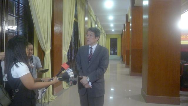 Đại sứ Umeda Kunio cho rằng, điều cốt lõi trong quan hệ Việt Nam-Nhật Bản là lòng tin giữa hai quốc gia. (Ảnh: Minh Phương)