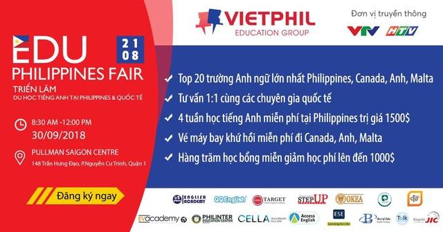EduPhilippines Fair 2018 năm nay được tổ chức tại Pullman Saigon Centre vào ngày 30/09/2018 tới đây.