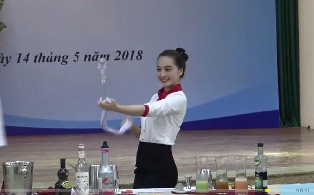 Thí sinh trong cuộc thi tay nghề cấp quốc gia năm 2018