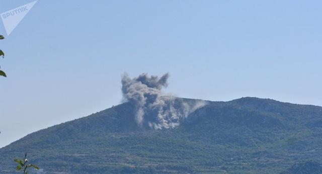 Syria đã triển khai hỏa lực tới tỉnh Latakia tiêu diệt các mục tiêu khủng bố (Ảnh: Sputnik)