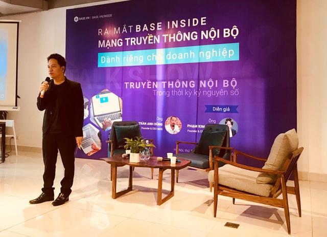 Ông Phạm Kim Hùng – Founder&CEO của Base.vn giới thiệu về nền tảng mạng kết nối nội bộ cho doanh nghiệp.