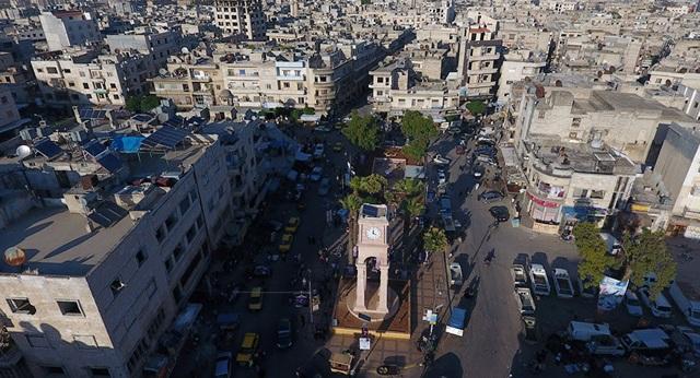 Thành phố Idlib, Syria (Ảnh: Reuters)