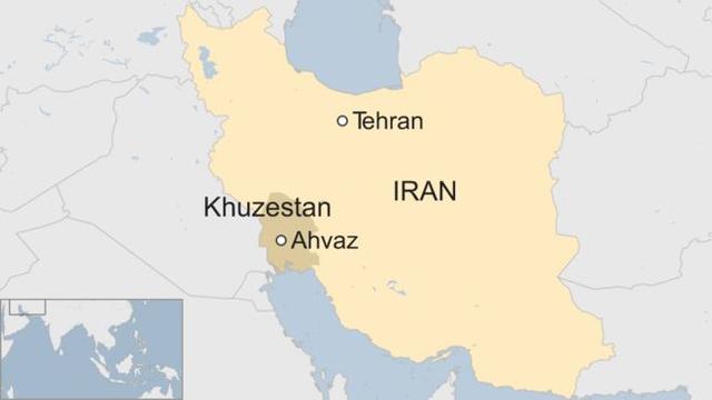 Vụ xả súng xảy ra tại thành phố Ahvaz (Đồ họa: BBC)