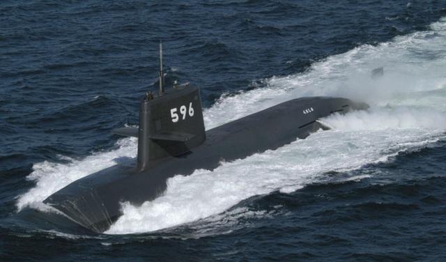 Tàu ngầm Kuroshio của lực lượng phòng vệ hàng hải Nhật Bản (Ảnh: Kyodo)