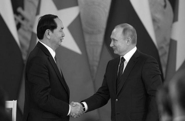 Tổng thống Nga Putin ca ngợi sự sáng suốt và tầm nhìn xa về chính trị của Chủ tịch nước Trần Đại Quang (ảnh: Sputnik)