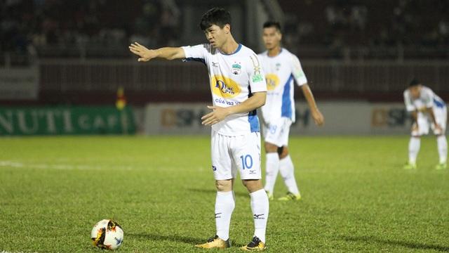 Công Phượng sẽ được ưu tiên đá các quả phạt đền của HA Gia Lai, nếu họ được hưởng ở vòng 26 V-League (ảnh: Trọng Vũ)