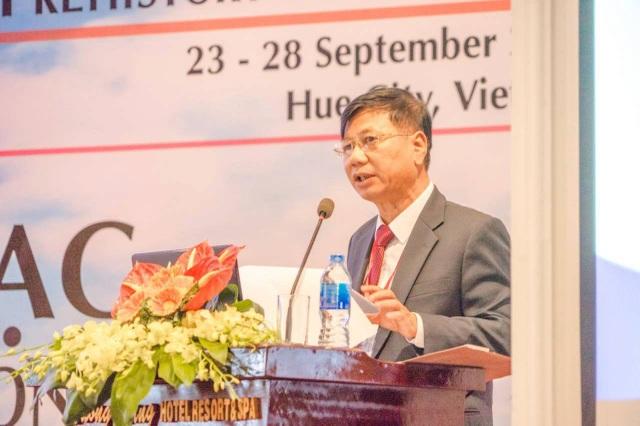 PGS.TS Nguyễn Giang Hải, Viện trưởng Viện Khảo cổ học phát biểu