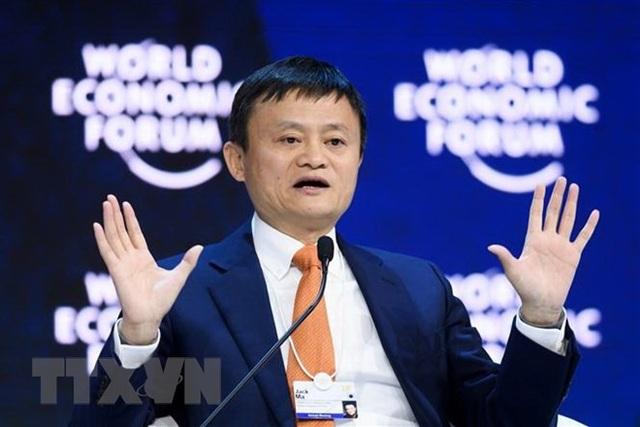 Tỷ phú Jack Ma phát biểu tại Diễn đàn kinh tế Thế giới ở Davos, Thụy Sĩ ngày 24/1. (Nguồn: AFP/TTXVN)