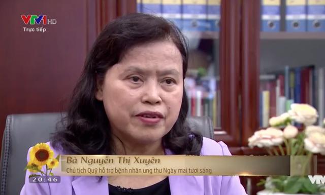 PGS.TS Nguyễn Thị Xuyên Chủ tịch Tổng Hội Y học Việt Nam - Chủ tịch Quỹ Ngày mai tươi sáng.
