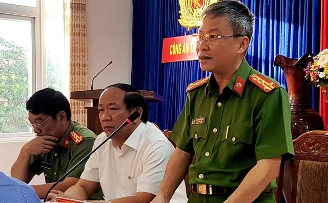 Đại tá Nguyễn Đức Dũng – Phó Giám đốc Công an tỉnh Quảng Nam công bố chi tiết vụ án