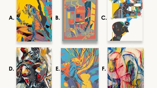 Bức tranh nào dưới đây không phải do con người vẽ? - 1