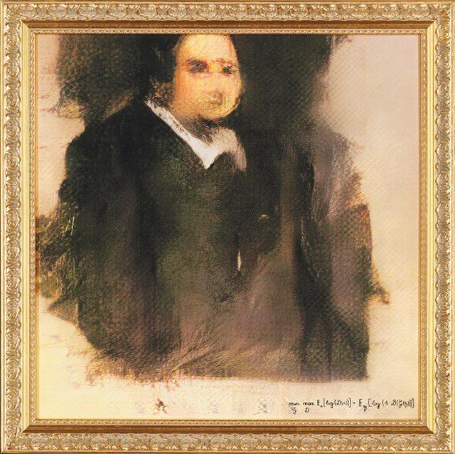 Bức tranh chân dung khắc họa một người đàn ông có tên Edmond De Belamy