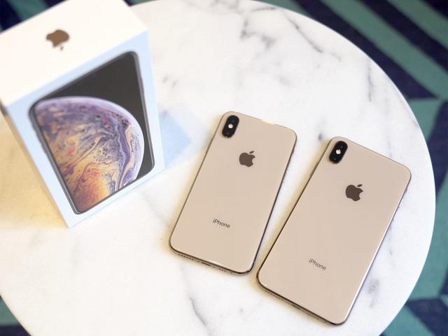 iPhone XS và XS Max có thiết kế y hệt so với iPhone X.