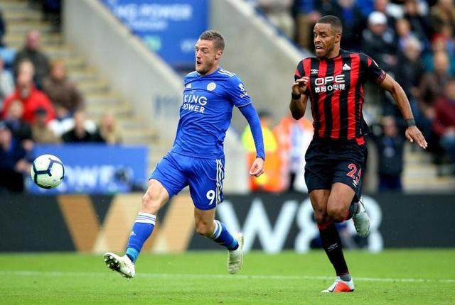 Jamie Vardy thi đấu nổi bật giúp Leicester City chiến thắng