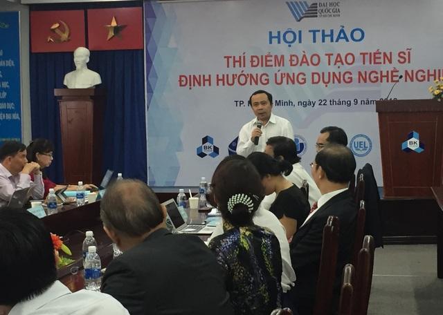 PGS.TS Vũ Hải Quân, Phó Giám đốc ĐHQG TPHCM cho rằng đã đến thời điểm bắt đầu mở rộng khái niệm về tiến sĩ