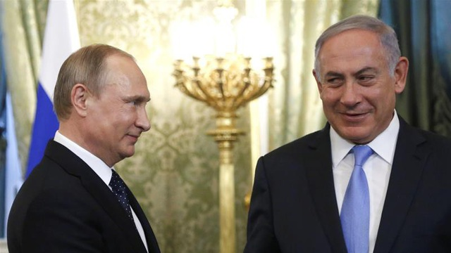 Tổng thống Putin và Thủ tướng Israel Benjamin Netanyahu (Ảnh: Reuters)