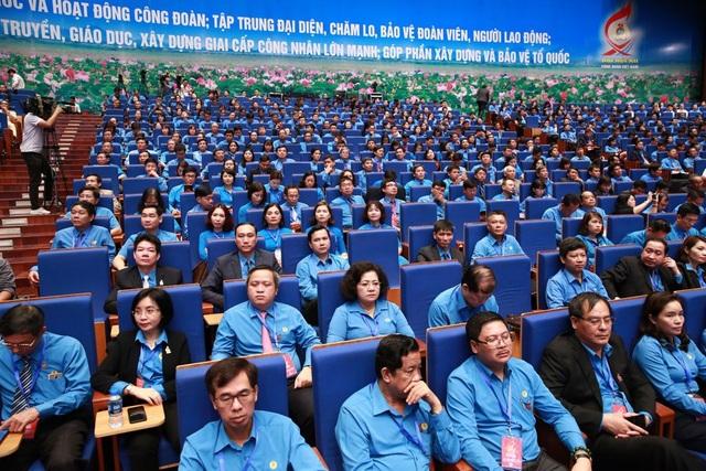 Toàn cảnh Phiên trọng thể Đại hội Công đoàn Việt Nam lần thứ XII. Ảnh: Hải Nguyễn.