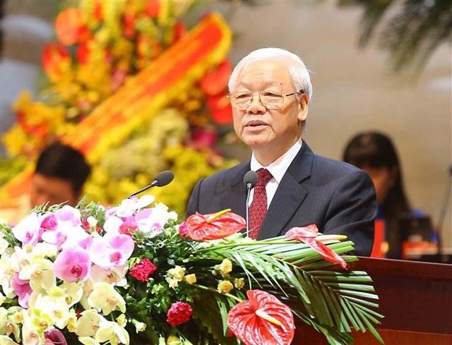 Tổng Bí thư Nguyễn Phú Trọng phát biểu chỉ đạo Đại hội. Ảnh: TTXVN