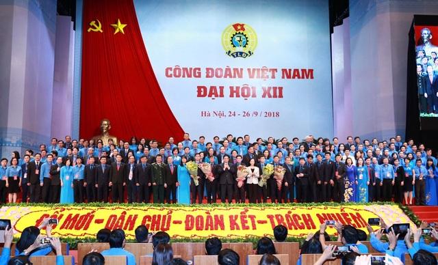 Ban chấp hành Công đoàn Việt Nam khóa 12 đã được bầu với 161 thành viên.