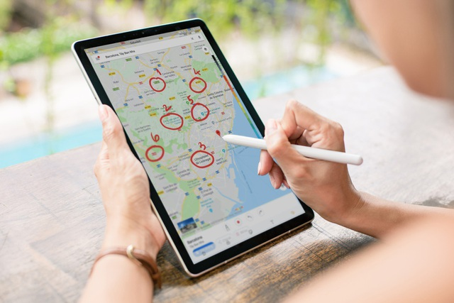 Tốc kí hành trình, tốc kí kế hoạch di chuyển, đánh dấu các địa điểm một cách nhanh chóng và tiện lợi bằng S Pen