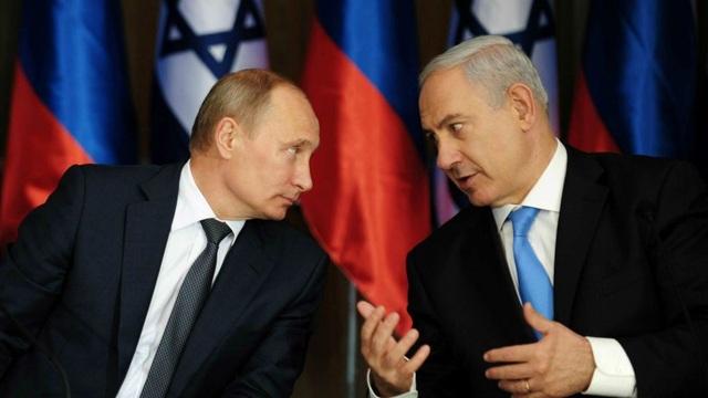 Tổng thống Nga Vladimir Putin và Thủ tướng Israel Benjamin Netanyahu (Ảnh: GPO)