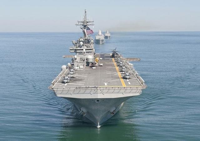 Tàu USS Wasp của Mỹ (Ảnh: US Navy)