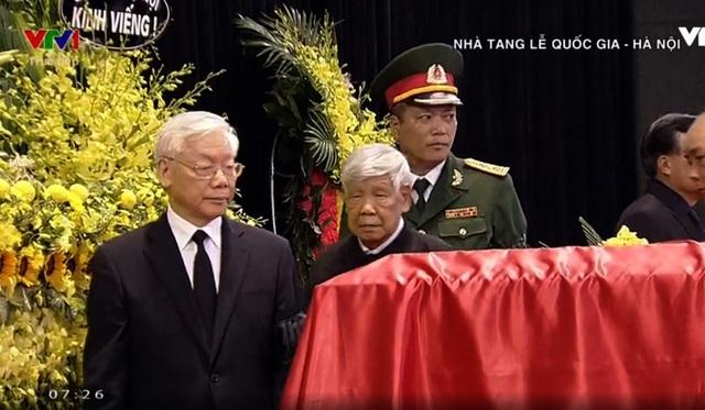 Tổng Bí thư Nguyễn Phú Trọng cùng lãnh đạo Đảng, Nhà nước vào viếng Chủ tịch nước Trần Đại Quang.