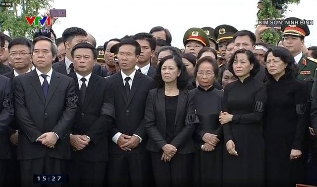 Các vị lãnh đạo, nguyên lãnh đạo Đảng, Nhà nước trong giây phút tiễn biệt Chủ tịch nước Trần Đại Quang.