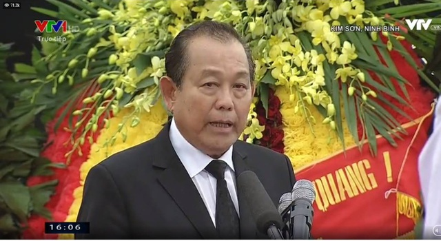 Phó Thủ tướng Trương Hòa Bình lên phát biểu lời cảm ơn