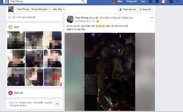 Công an huyện Ba Vì cho biết sẽ làm rõ việc loan tin bắt cóc trẻ em không đúng trên mạng xã hội Facebook.