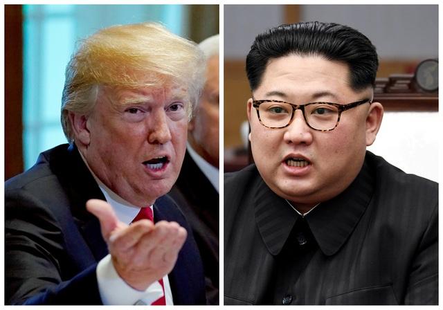 Tổng thống Mỹ Donald Trump và nhà lãnh đạo Triều Tiên Kim Jong-un (Ảnh: Reuters)